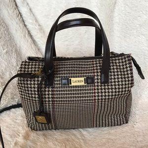 Lauren Ralph Lauren Houndstooth Satchel Bag